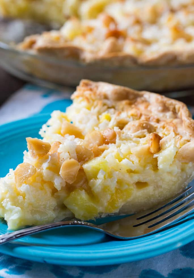 Pineapple Coconut Macadamia Pie