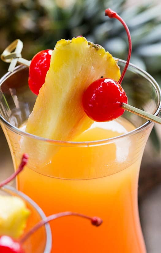 Pineapple Upside Down Cocktail