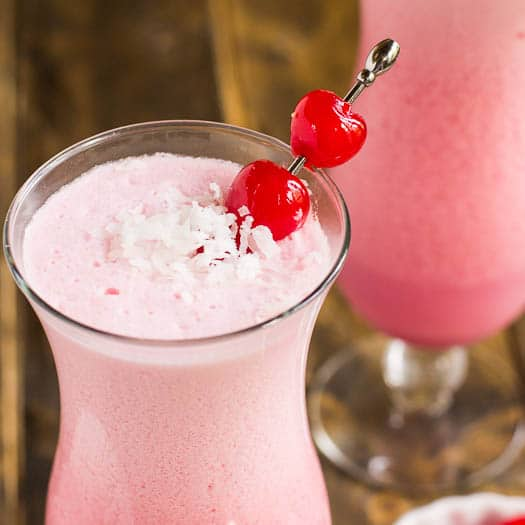 Pink Coconut Frost Cocktail