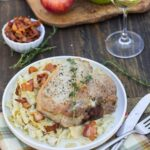 Pork Chops with Creamy Cabbage and Apples