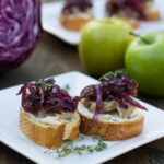 Pork Crostini with Sweet and Sour Red Cabbage