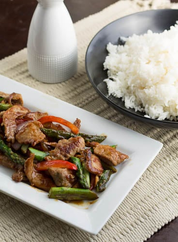 Stir-fry with Pork and Asparagus