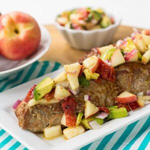 Pork Tederloin with Nectarine Avocado Salsa