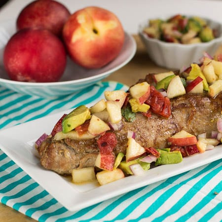 Pork Tenderloin with Nectarine Salsa