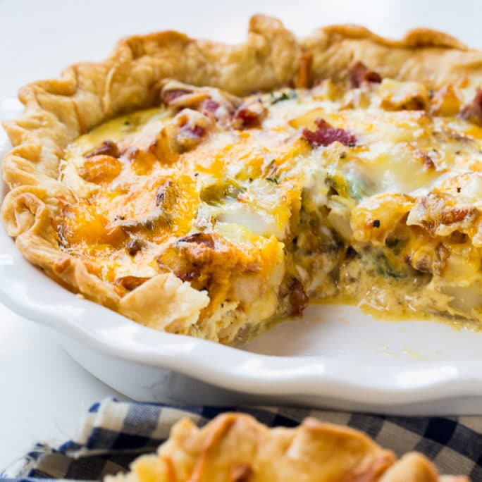 Bacon and Potato Quiche