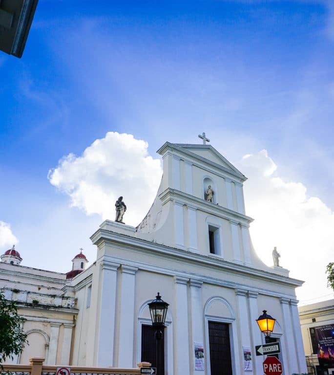 The Cathedral where Ponce de Leon's remains lie.