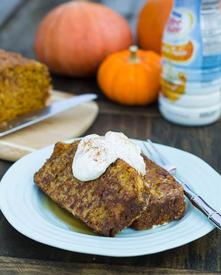 Pumpkin Spice Bread French Toast