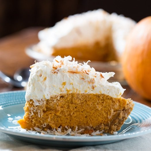 Coconut Pumpkin Chiffon Pie - Spicy Southern Kitchen