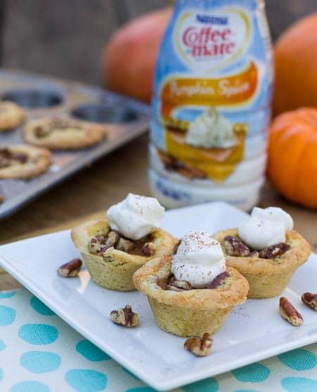 Pumpkin Tassies in Sugar Cookie Crust