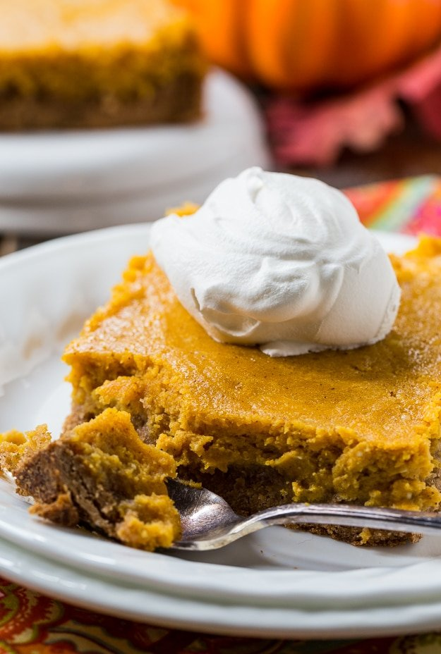 Pumpkin Spice Gooey Butter Cake- tastes like pumpkin pie!