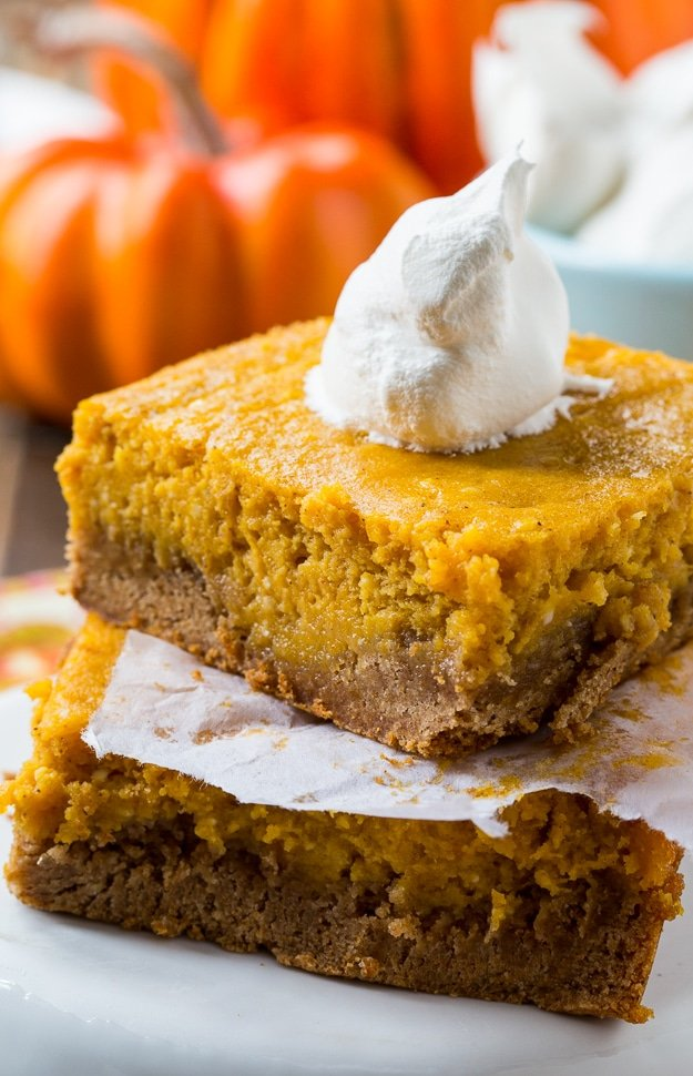 Pumpkin Spice Gooey Butter Cake - tastes like pumpkin pie only easier to make and feeds a crowd!