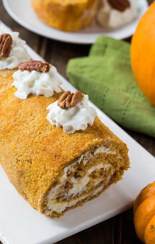 Pumpkin Roll with a creamy filling