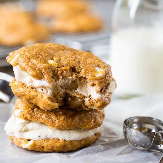Pumpkin-White Chocolate Chip Cookies