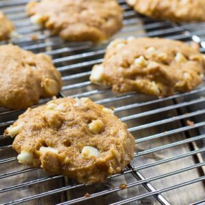 Pumpkin-White Chocolate Chip Cookies