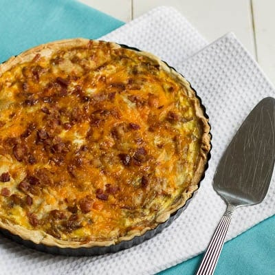 Carmelized Onion and Bacon Quiche
