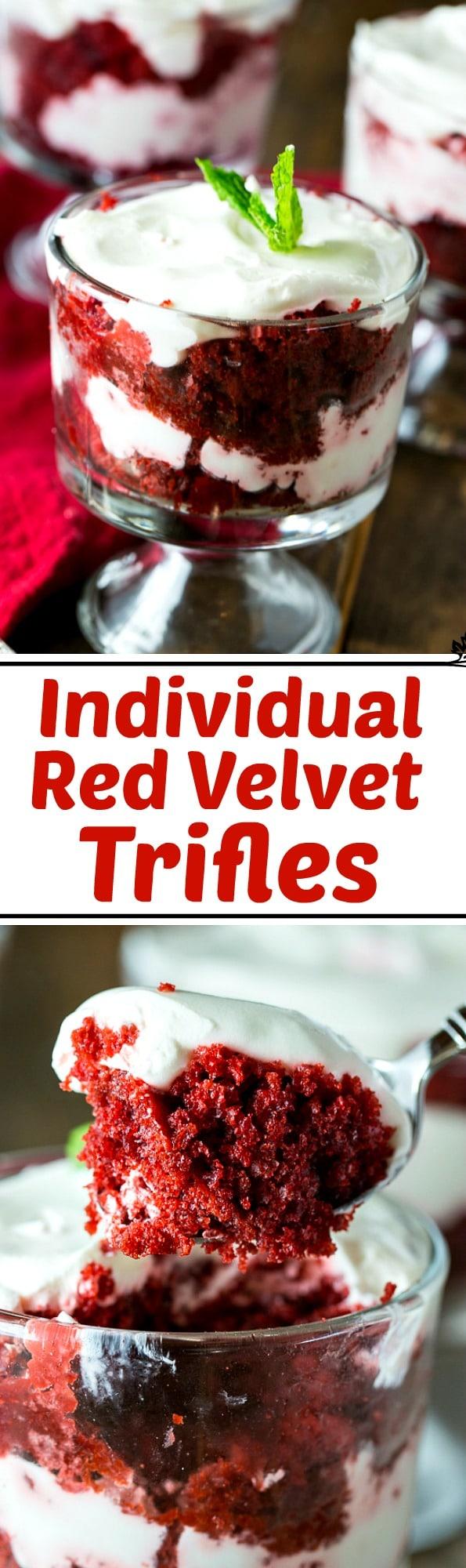 Individual Red Velvet Trifles