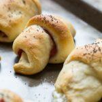 Reuben Crescent Rolls- crescent rolls stuffed with corned beef, swiss cheese, kraut, and thousand island dressing.