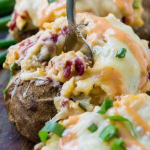 Reuben Stuffed Potatoes
