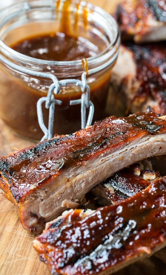 Honey Chipotle Ribs are sweet and spicy and super tender. So easy to make from just a few simple ingredients!