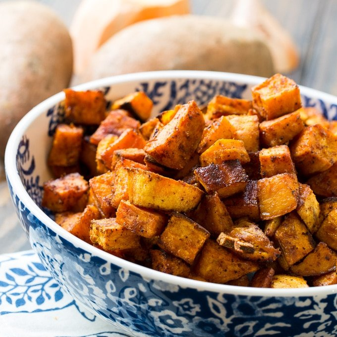 Roasted Yams: Spicy-Sweet Roasted Sweet Potatoes