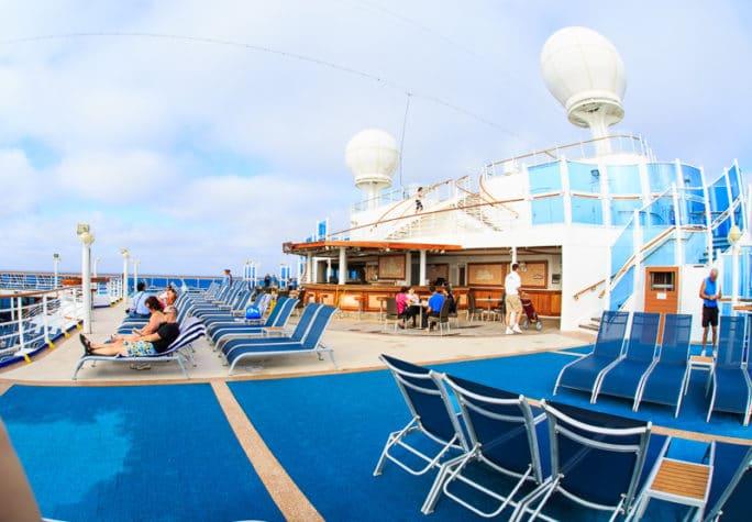 Ruby Princess Cruise - pool area