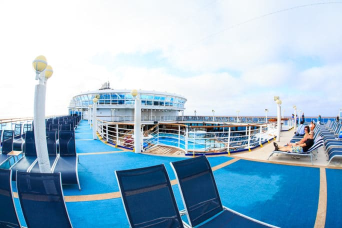 Ruby Princess Cruise- pool deck