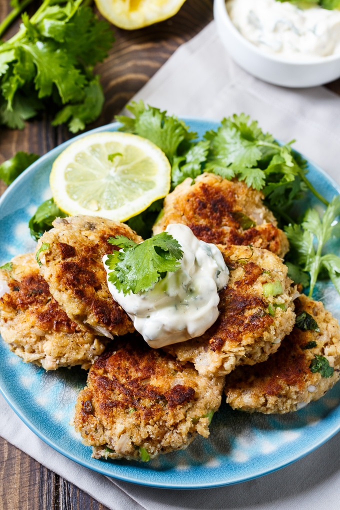 Salmon Croquettes with Cilantro Mayonnaise