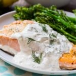 Salmon with Creamy Dill Sauce