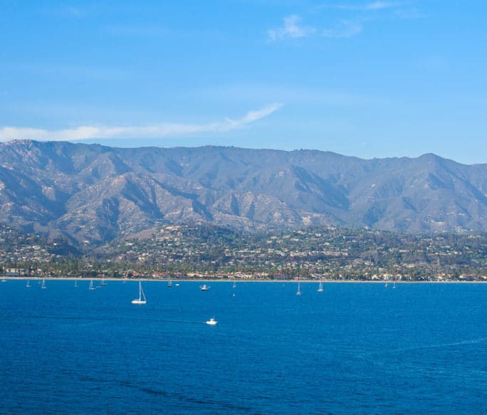 Santa Barbara view from Ruby Princess Cruise