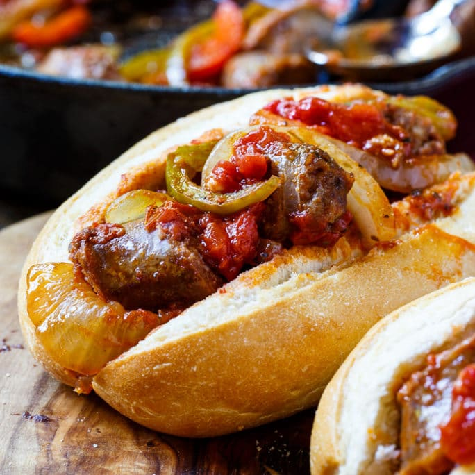 Italian sausage and peppers spicy southern kitchen italian sausage and peppers forumfinder