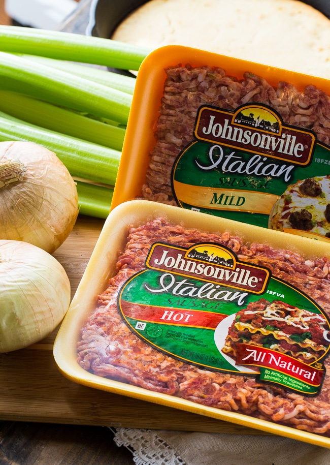 Sausage Dressing made with Johnsonville Sausage