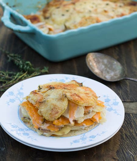 caramelized onion and potato gratin save print a creamy cheesy potato ...