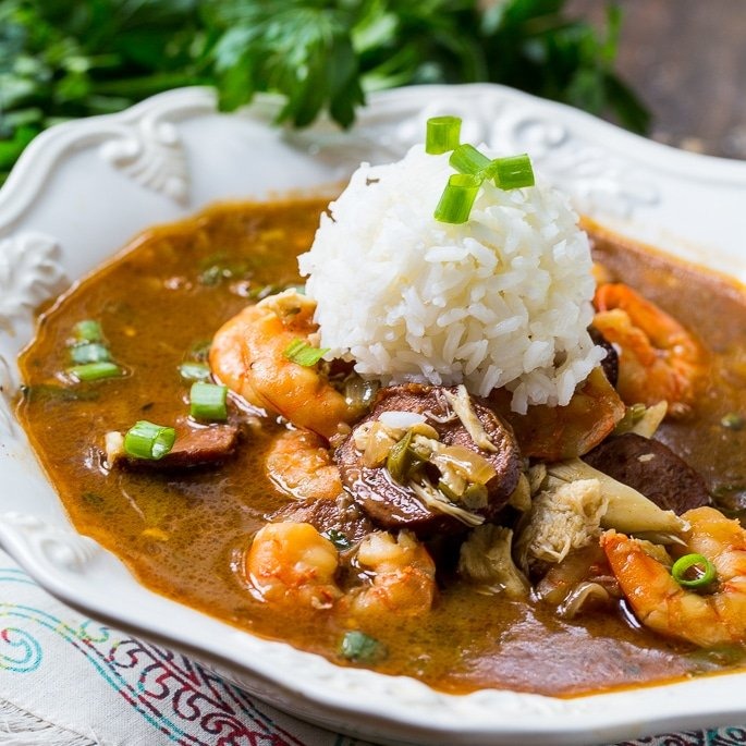 seafood gumbo spicy southern kitchen