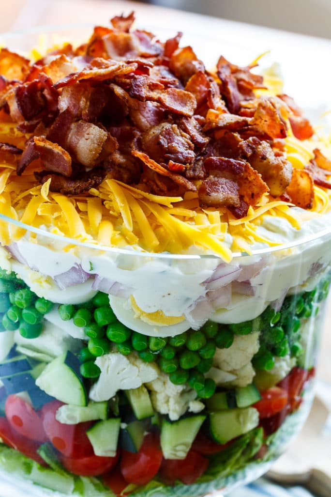 Seven Layer Salad Is The Perfect Salad For Potlucks And Picnics Easy To Make Ahead