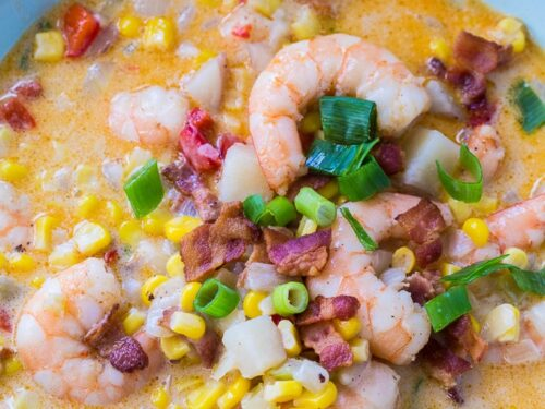 Cajun Shrimp And Corn Chowder Spicy Southern Kitchen