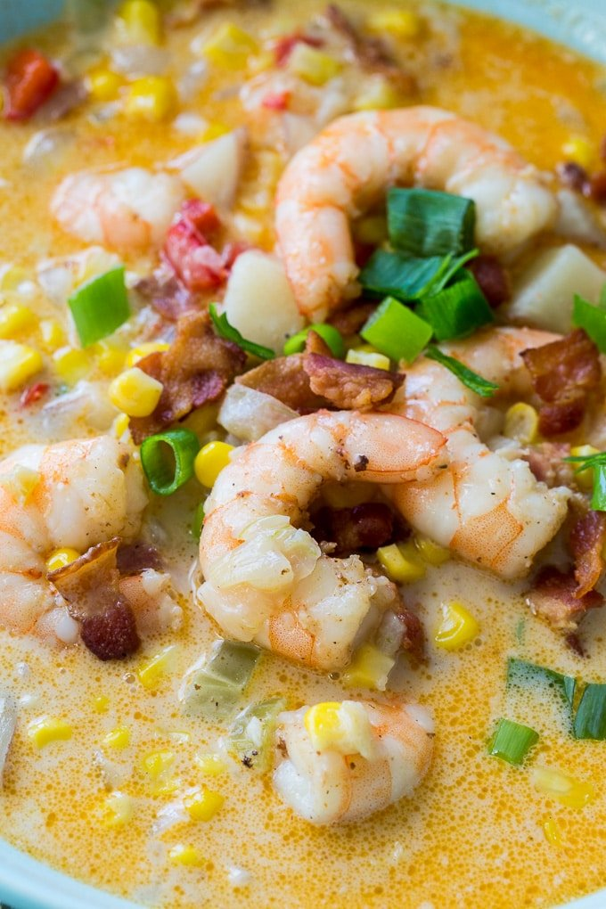 Cajun Shrimp and Corn Chowder