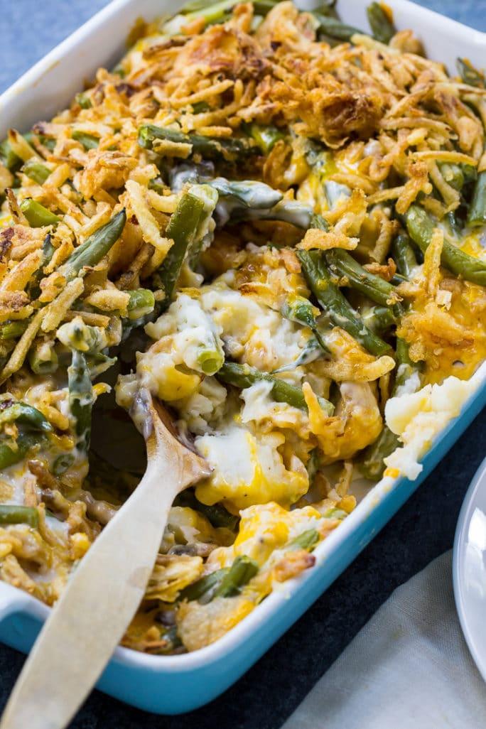 Mashed Potato Green Bean Casserole