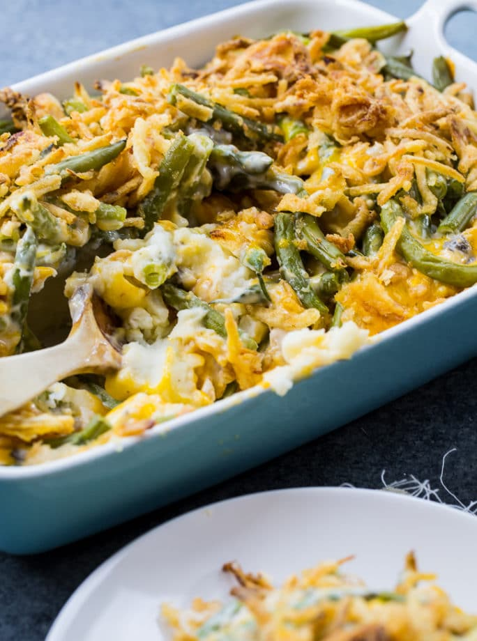 Mashed Potato Green Bean Casserole