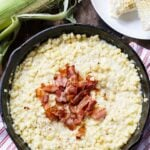 Country-Fried Skillet Corn with bacon.