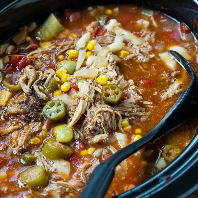 Slow Cooker Brunswick Stew Spicy Southern Kitchen