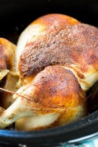 Slow Cooker Spiced Whole Chicken