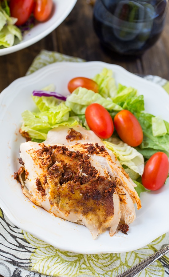 Slow Cooker Spiced Whole Chicken #crockpot