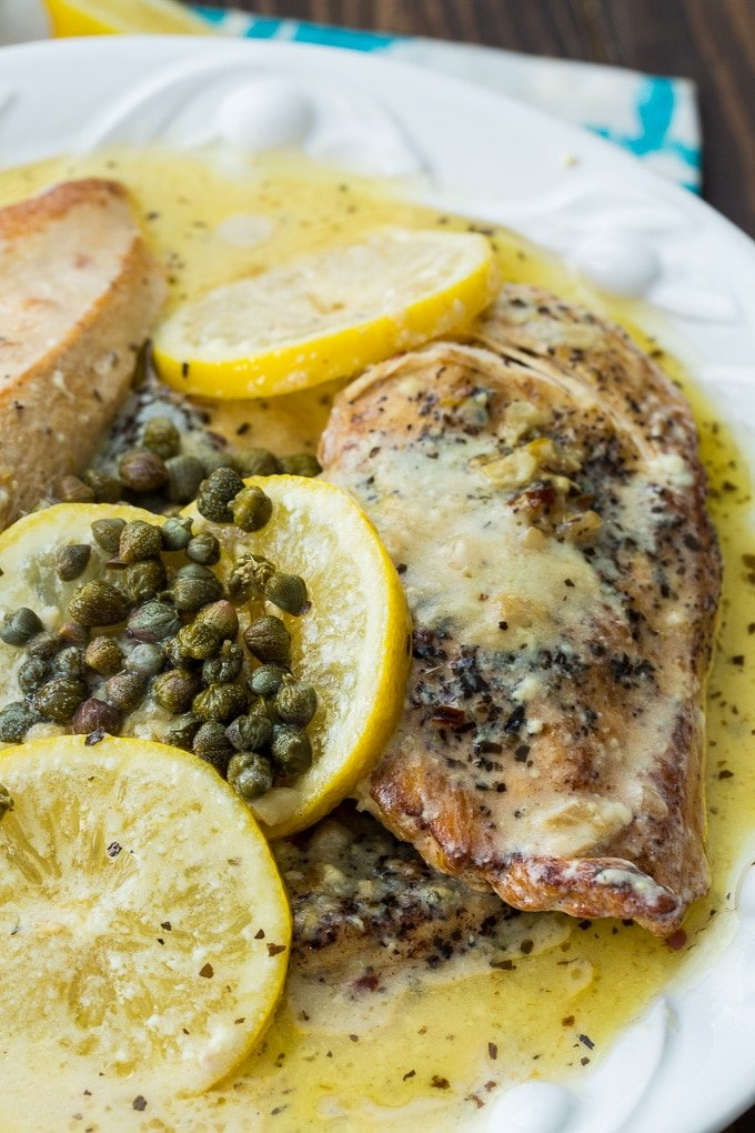 Crock Pot Lemon Chicken in a creamy sauce