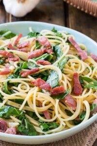 Southern Carbonara with Collard Greens and Country Ham
