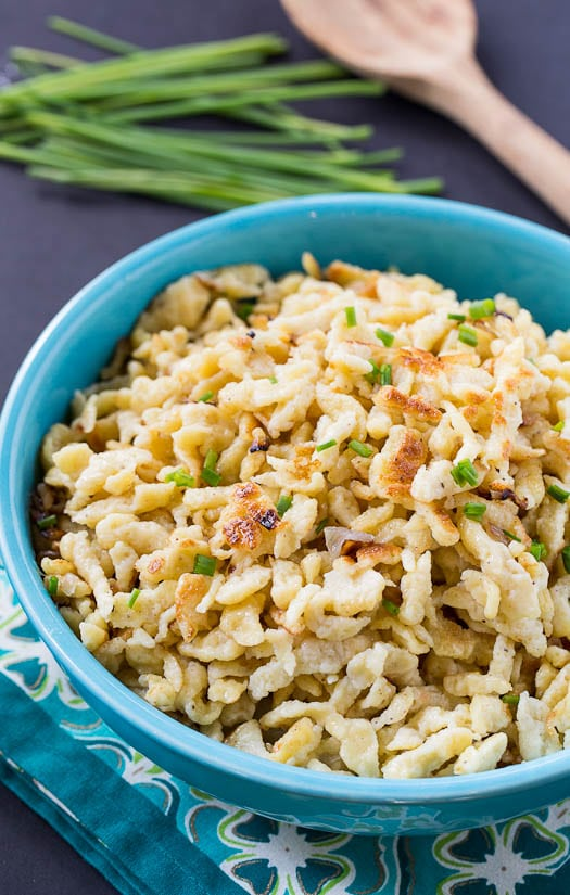 Homemade Spaetzle - an easy to amke comfort food that uses only a few basic ingredients.