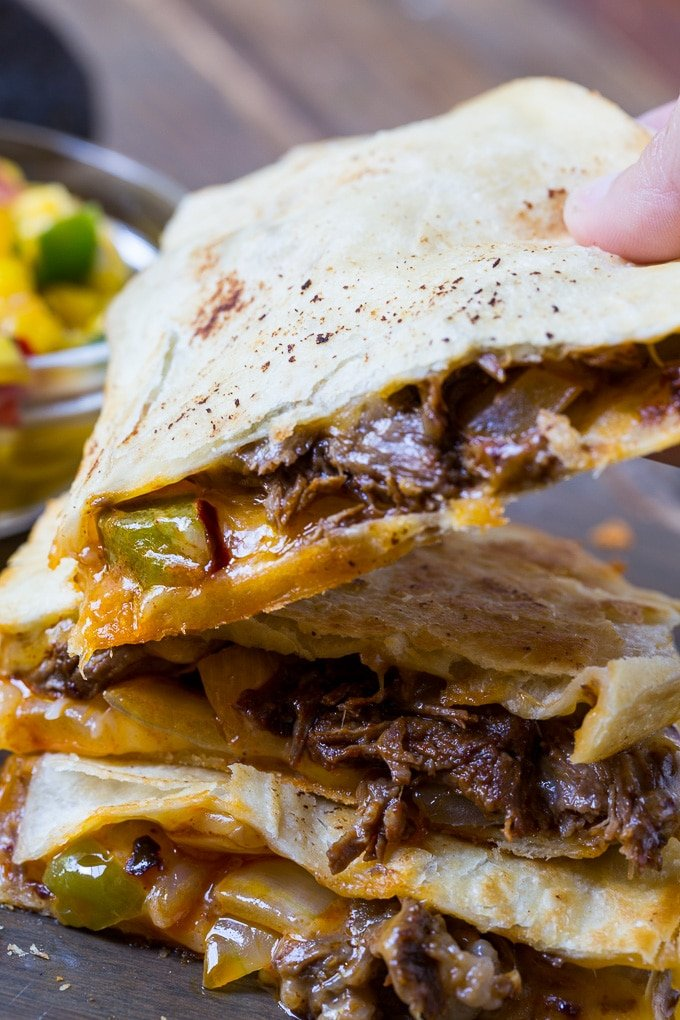 Spicy Short Rib Quesadillas