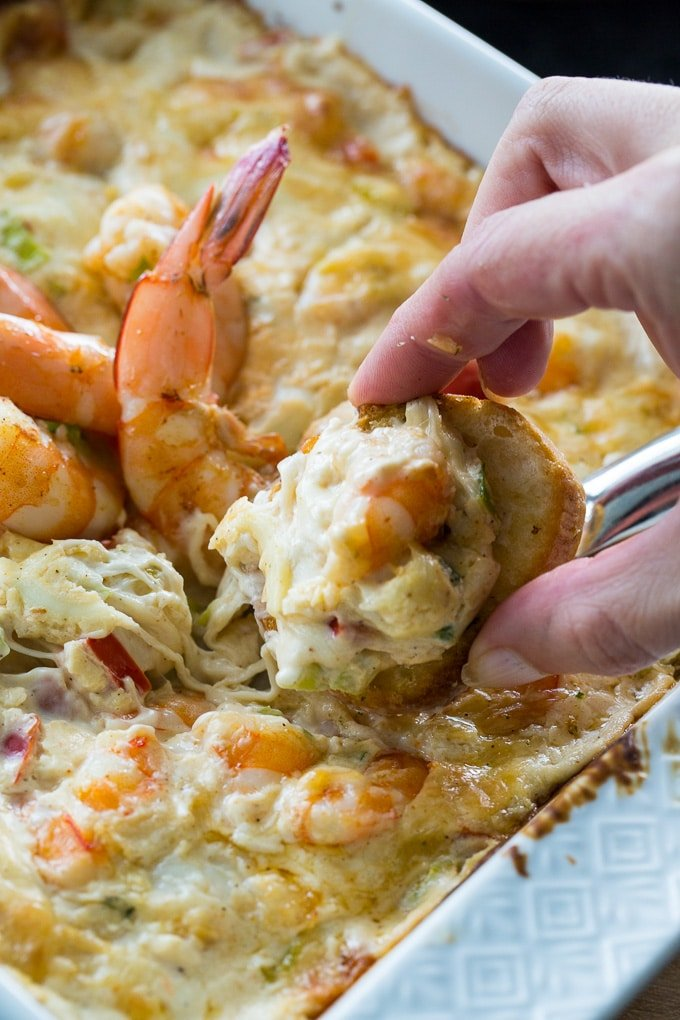 Creamy and cheesy Spicy Shrimp Dip