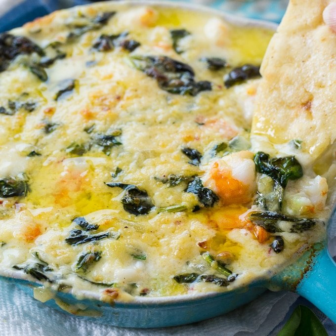 Cheesy Shrimp and Spinach Dip