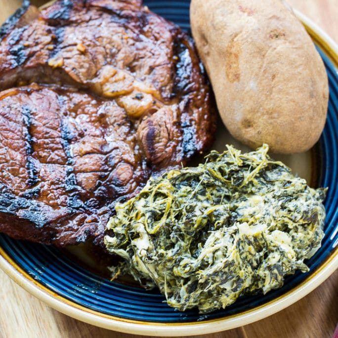 Slow Cooker Jalapeno Creamed Spinach