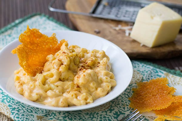 Stovetop Mac and Cheese with Cheese Crisps - Spicy Southern Kitchen